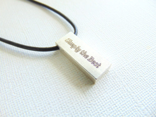 fathers day gift silver bar necklace custom message necklace