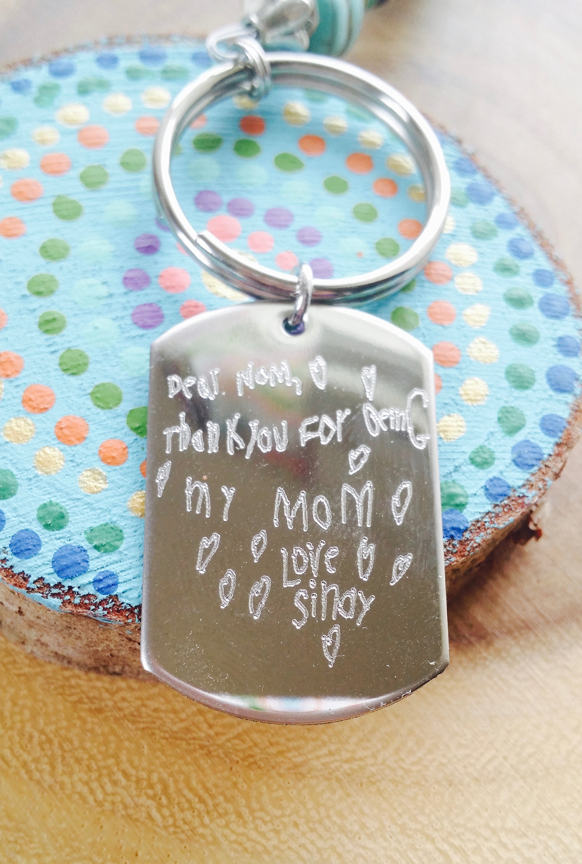 Handwriting Keychain Personalized Engraved Keychain