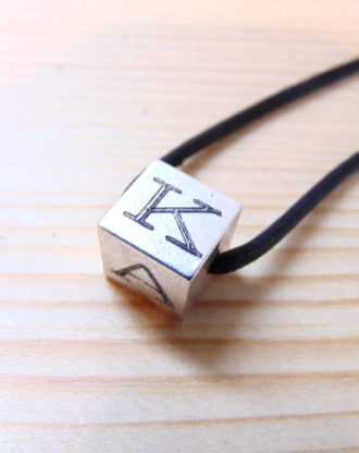 Initial Cube Necklace, personalized cube pendant, silver letter charm, Custom initial Necklace, Geometric Jewelry, 4 sides engraved necklace