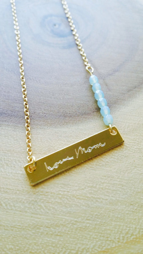 mothers day actual handwriting necklace personalized. Black Bedroom Furniture Sets. Home Design Ideas