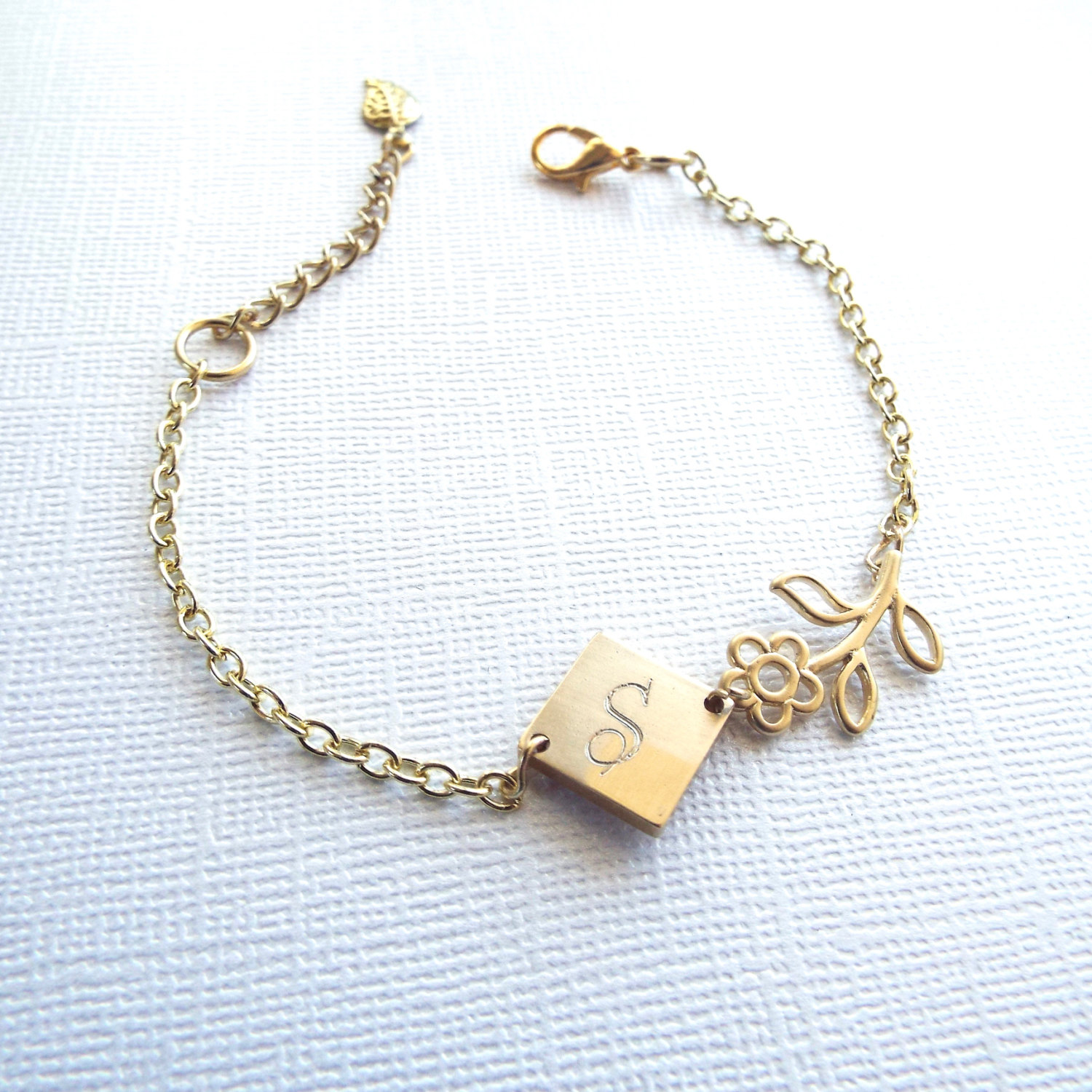 Mothers Day Gift Personalized Bracelet Gold Initial