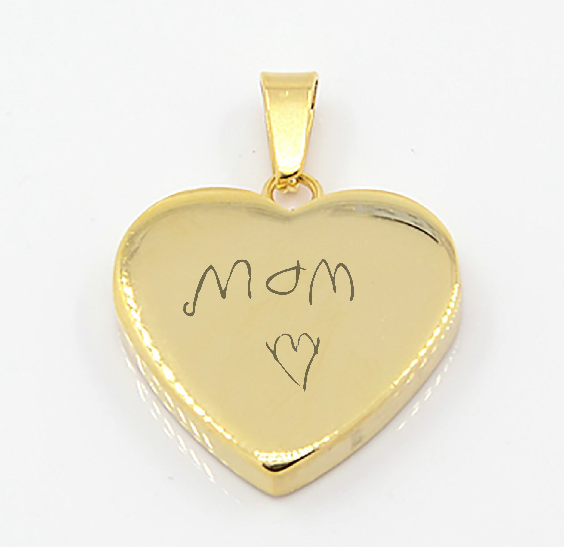 Personalized gold heart necklace mothers day jewelry gift engraved prev aloadofball Image collections