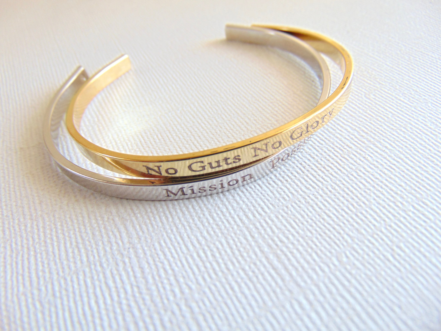 ea0f6dde9bc8 Personalized gold   silver cuff bracelet custom text