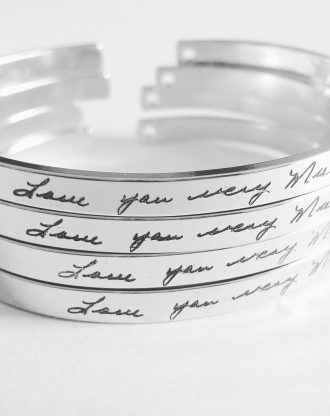 Actual Handwriting cuff bracelet, Custom handwritten bracelet, Personal engraved signature cuff, Keepsake Gift, silver/Rose gold/gold cuff