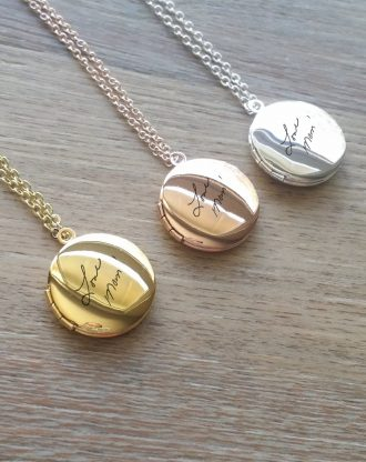Custom handwriting Locket necklace actual handwritten Necklace personalized engraved keepsake jewelry gold/silver/rose gold locket necklace
