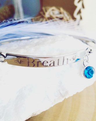 Custom name bangle bracelet, Engraved word Bracelet, Stamped silver cuff, motivational bangle, Birthstone cuff, Personalized gift for her