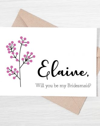 Will you be my bridesmaid, maid of honor card, personalized bridesmaid proposal card, flower girl card, wedding party card, custom card.