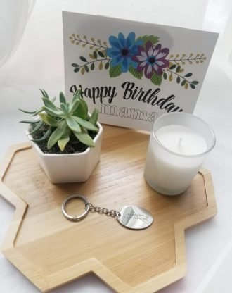 Mothers day gift set, curated gift box, Custom mother birthday present, Live succulent, birthday gift idea for mom, mama bear gift for her