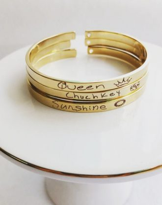 Actual Handwriting cuff, Custom handwritten bracelet, Personalized signature cuff, Keepsake memorial Gift, silver or Rose gold or gold cuff