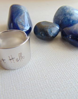 You HAD ME at HELLO message ring custom quote ring adjustable ring Personalized Jewelry Inspirational jewelry, engraved ring, Wide Cuff Ring