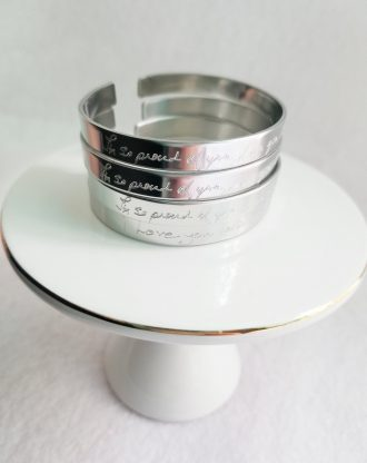 Actual Handwriting cuff bracelet, Sterling silver bracelet, Custom handwritten cuff, Personal engraved signature cuff, keepsake gift idea.