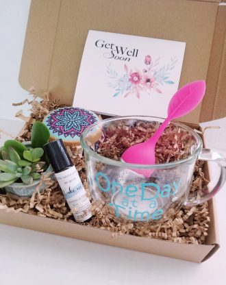 Get well soon gift set, cheer up basket, send a gift, Pre filled gift box & card, Hospital gift, surgery gift, Thinking of you care package.