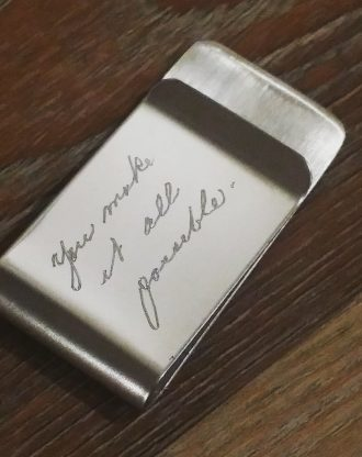 Custom handwritten Money clip, Actual handwriting Engraved Money clip, Personalized gift for dad, Groomsmen Gift, Man gift for him by mywhys
