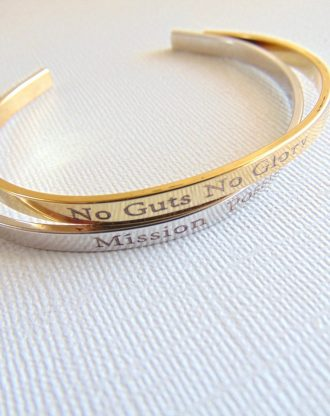 Personalized gold / silver cuff bracelet custom text, Secret message cuff, engraved quote Mantra Bracelet, inspirational motivation jewelry